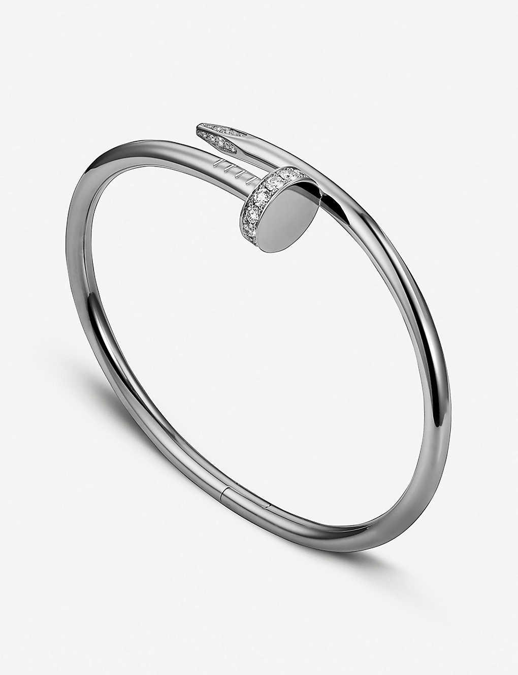 39b9831140132 Juste un Clou 18ct white-gold and diamond bracelet