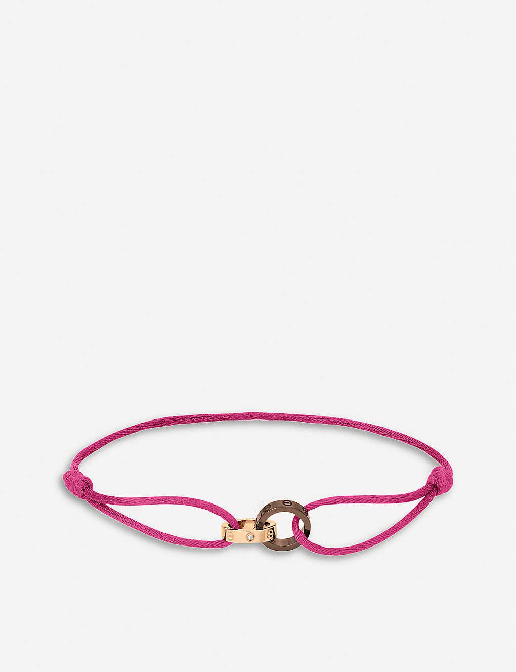 05d5662ff58d8 Love 18ct pink-gold, diamond and ceramic bracelet