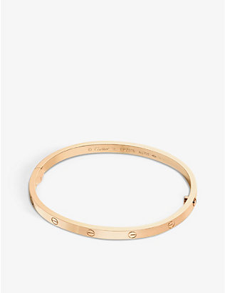 CARTIER: LOVE 18ct pink-gold bracelet small