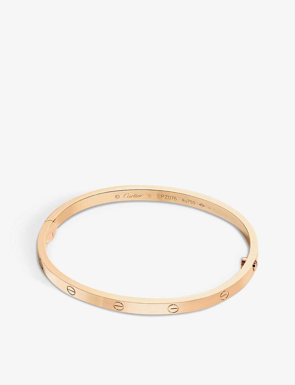 CARTIER: LOVE small 18ct pink-gold bracelet