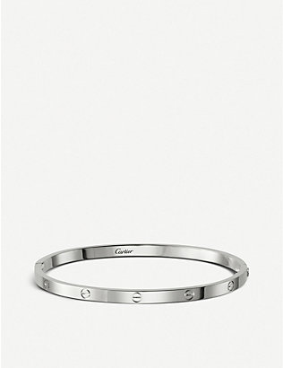 CARTIER: LOVE 18ct white-gold bracelet small