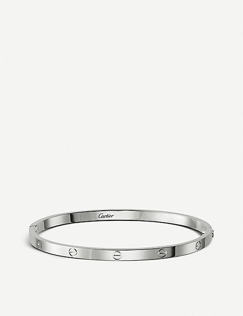 CARTIER LOVE 18ct white-gold bracelet small