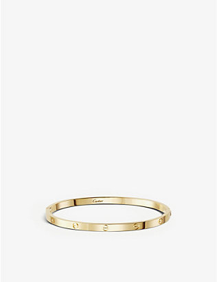 CARTIER: LOVE 18ct yellow-gold bracelet small