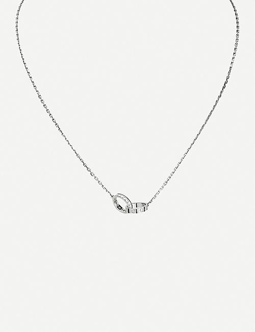 CARTIER Love 18ct white-gold and diamond necklace