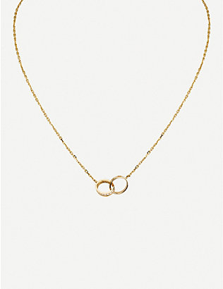 CARTIER: LOVE 18ct yellow-gold and 18 0.22ct diamonds necklace