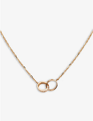 CARTIER: Love 18ct rose-gold and 0.22ct diamond necklace
