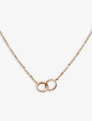 CARTIER Love 18ct rose-gold and diamond necklace