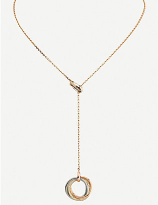 CARTIER: Two for Trinity 18ct gold necklace