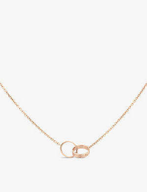 CARTIER Love 18ct pink-gold necklace