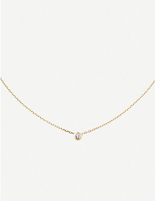 CARTIER: Diamants Légers large 18ct yellow-gold and 0.18ct diamond necklace