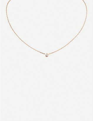 CARTIER: Diamants Légers large 18ct rose-gold and 0.18ct diamond necklace