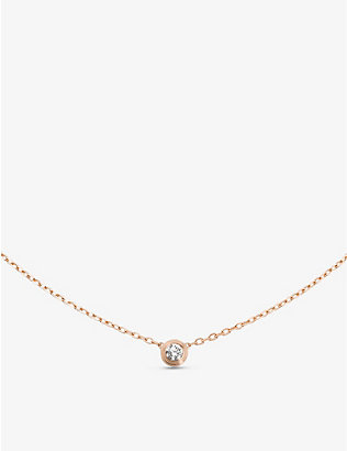 CARTIER: Diamants Légers de Cartier small 18ct pink-gold and 0.09ct diamond necklace