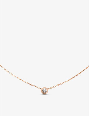 CARTIER Diamants Légers de Cartier 18ct pink-gold and diamond necklace