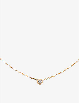 CARTIER: Diamants Légers de Cartier small 18ct yellow-gold and 0.09ct diamond necklace