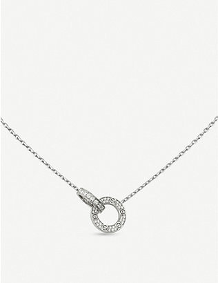 CARTIER: Love 18ct white-gold and 0.30ct diamond necklace