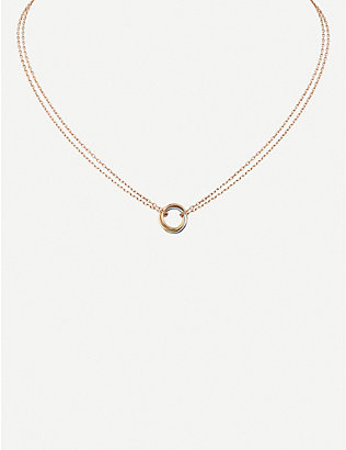 CARTIER: Sweet Trinity 18ct gold necklace