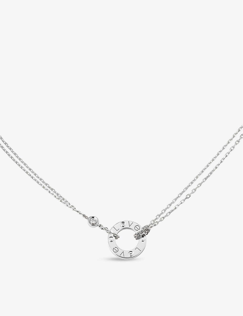 3e3a4a85c07105 CARTIER - Love 18ct white-gold and diamond necklace | Selfridges.com