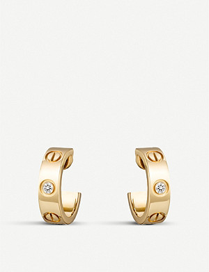 CARTIER Love 18ct yellow-gold and diamond earrings