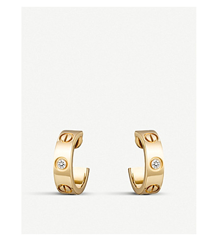 2c4a103f696 CARTIER - Love 18ct yellow-gold and diamond earrings
