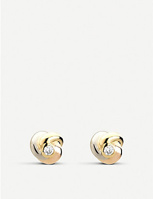 CARTIER: Baby Trinity 18ct gold and diamond earrings