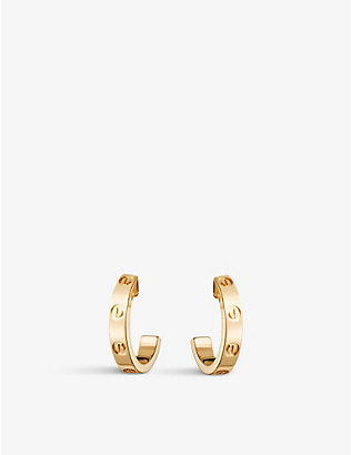 CARTIER: Love 18ct yellow-gold earrings