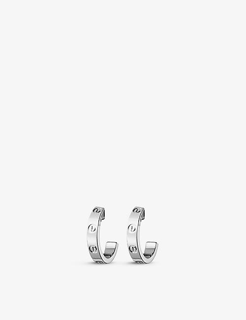 CARTIER Love 18ct white-gold earrings