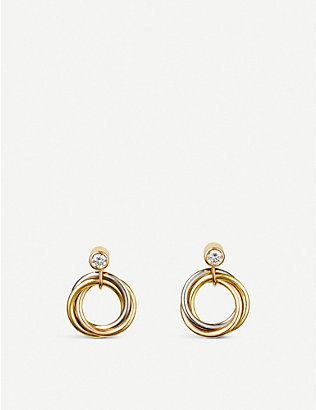 CARTIER: Sweet Trinity 18ct gold and diamond earrings
