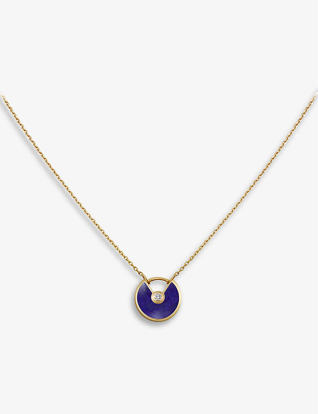 0fae2f67e2bb8 CARTIER - Amulette de Cartier 18ct yellow-gold, lapis lazuli and ...