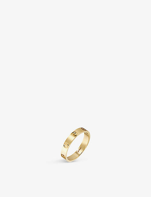 CARTIER: LOVE small 18ct yellow-gold wedding band