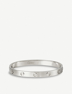 CARTIER LOVE 18ct white-gold bracelet