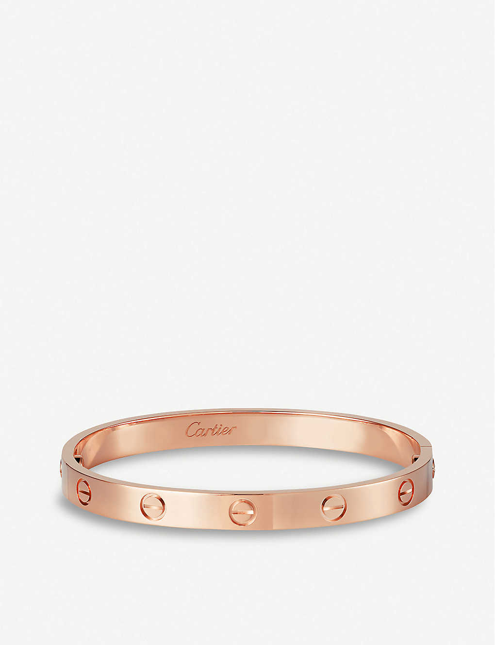 CARTIER: LOVE 18ct pink-gold bracelet