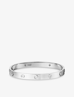 CARTIER Love 18ct white-gold and diamonds bracelet