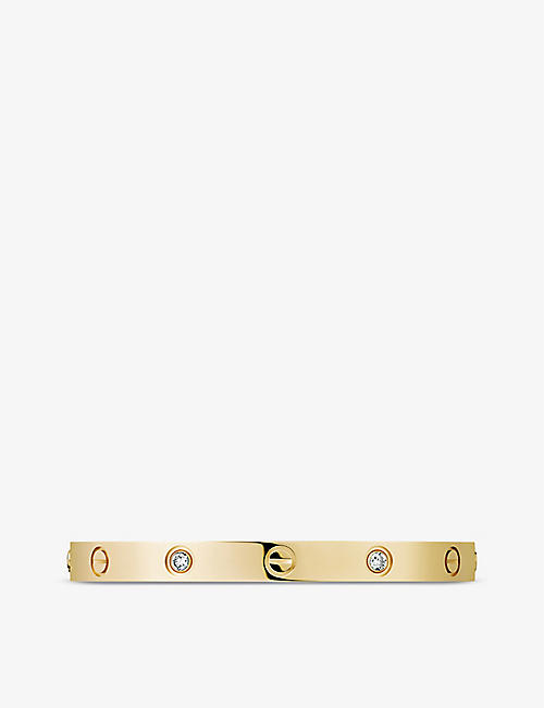 CARTIER: LOVE 18ct yellow-gold and 4 diamond bracelet