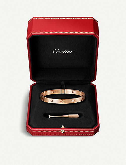 CARTIER Love 18ct rose-gold and diamonds bracelet