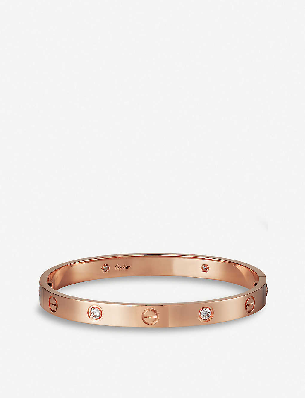 1f826d95a CARTIER - Love 18ct rose-gold and diamonds bracelet | Selfridges.com