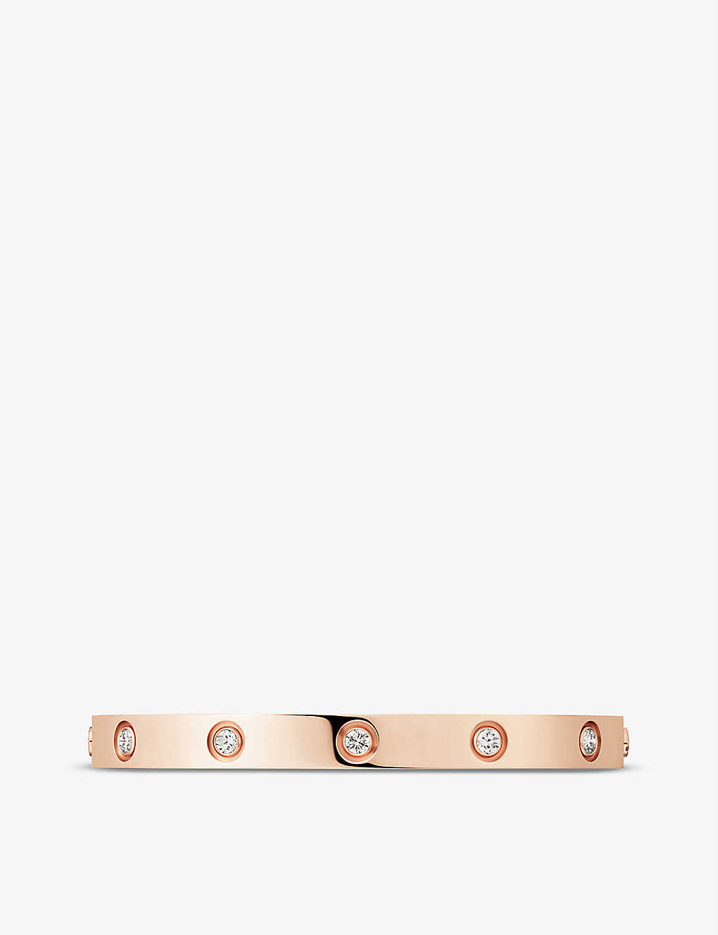 CARTIER: LOVE 18ct rose-gold and diamond bracelet