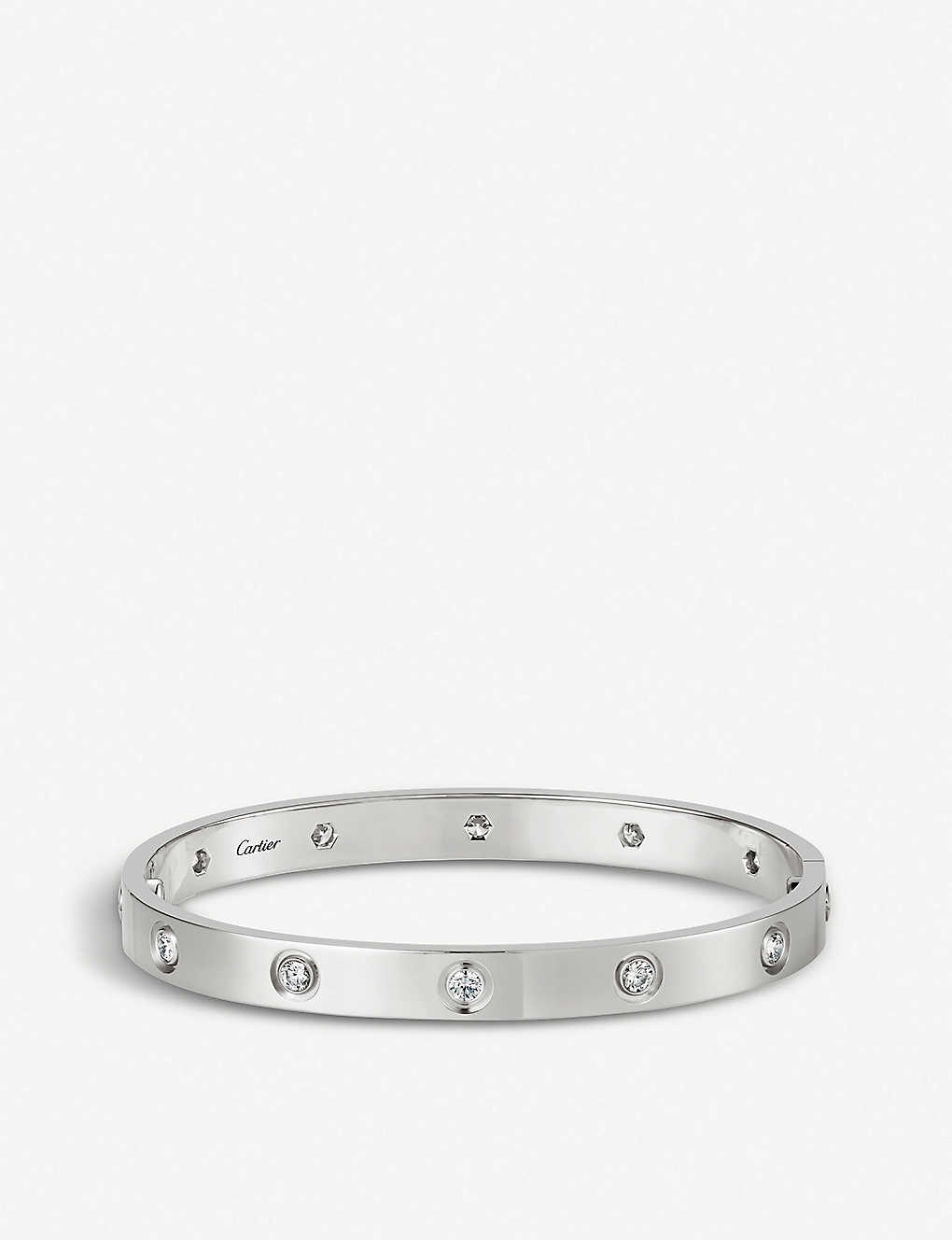 CARTIER: LOVE 18ct white-gold and diamond bracelet
