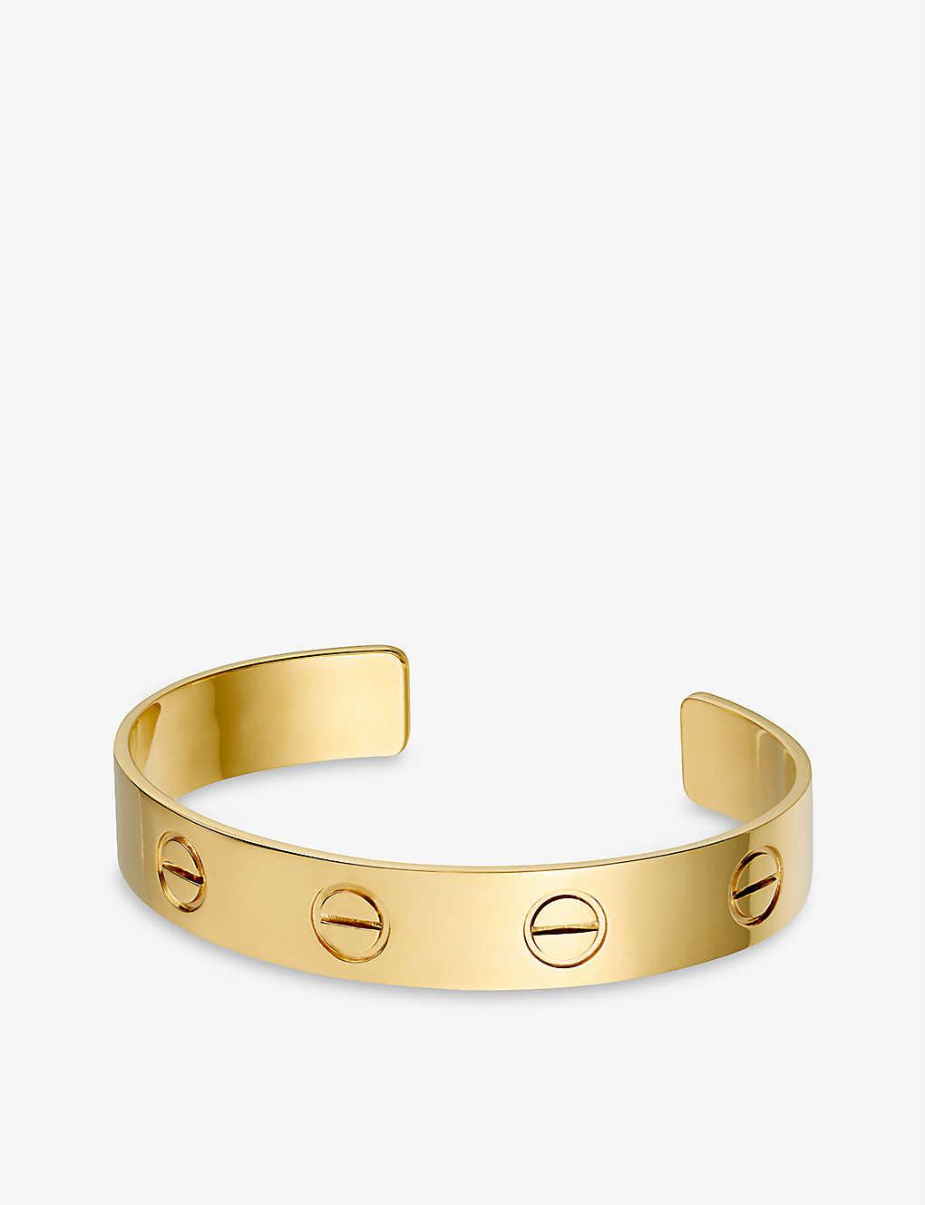 2b2c4c8aa CARTIER - Love 18ct yellow-gold cuff bracelet | Selfridges.com