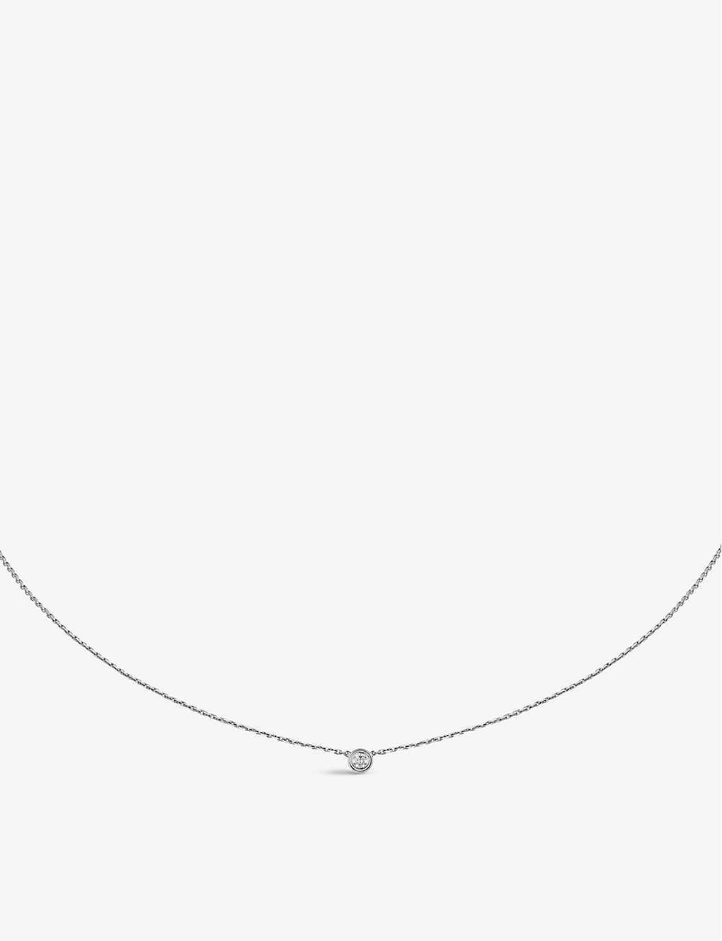 88f17f8a7820a CARTIER Diamants Légers de Cartier 18ct white-gold and diamond necklace
