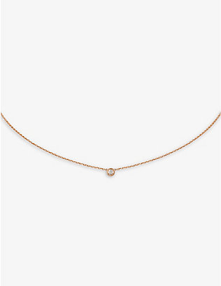 CARTIER: Diamants L?gers de Cartier 18ct pink-gold and diamond necklace