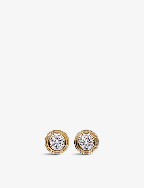 CARTIER Diamants Légers de Cartier 18ct yellow-gold and diamond earrings