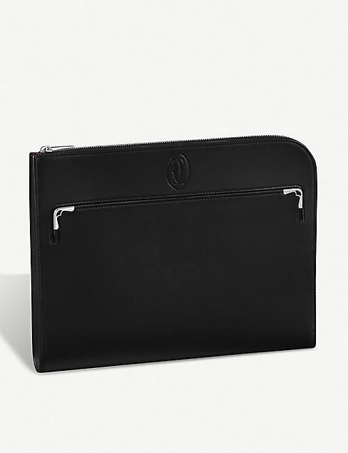 CARTIER: Must de Cartier leather portfolio bag