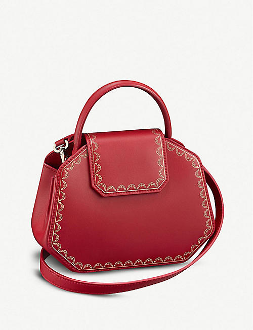 CARTIER Guirlande de Cartier mini leather handbag