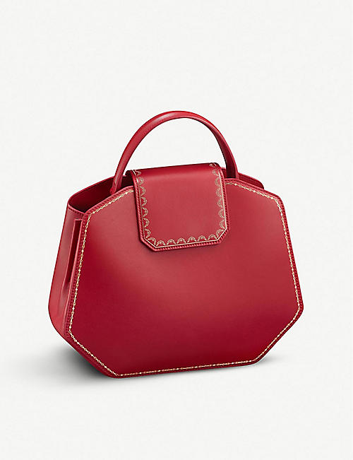CARTIER Guirlande de Cartier small leather handbag