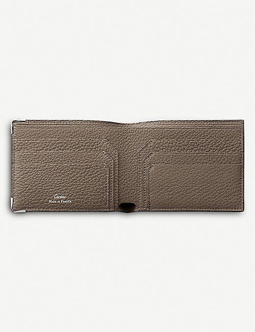CARTIER Must de Cartier calf leather and stainless steel wallet
