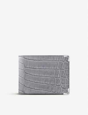 CARTIER Must de Cartier alligator-leather and stainless steel wallet