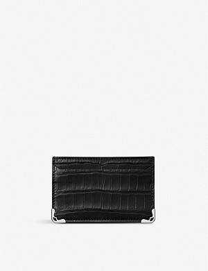 CARTIER Must de Cartier alligator-leather and stainless steel card holder