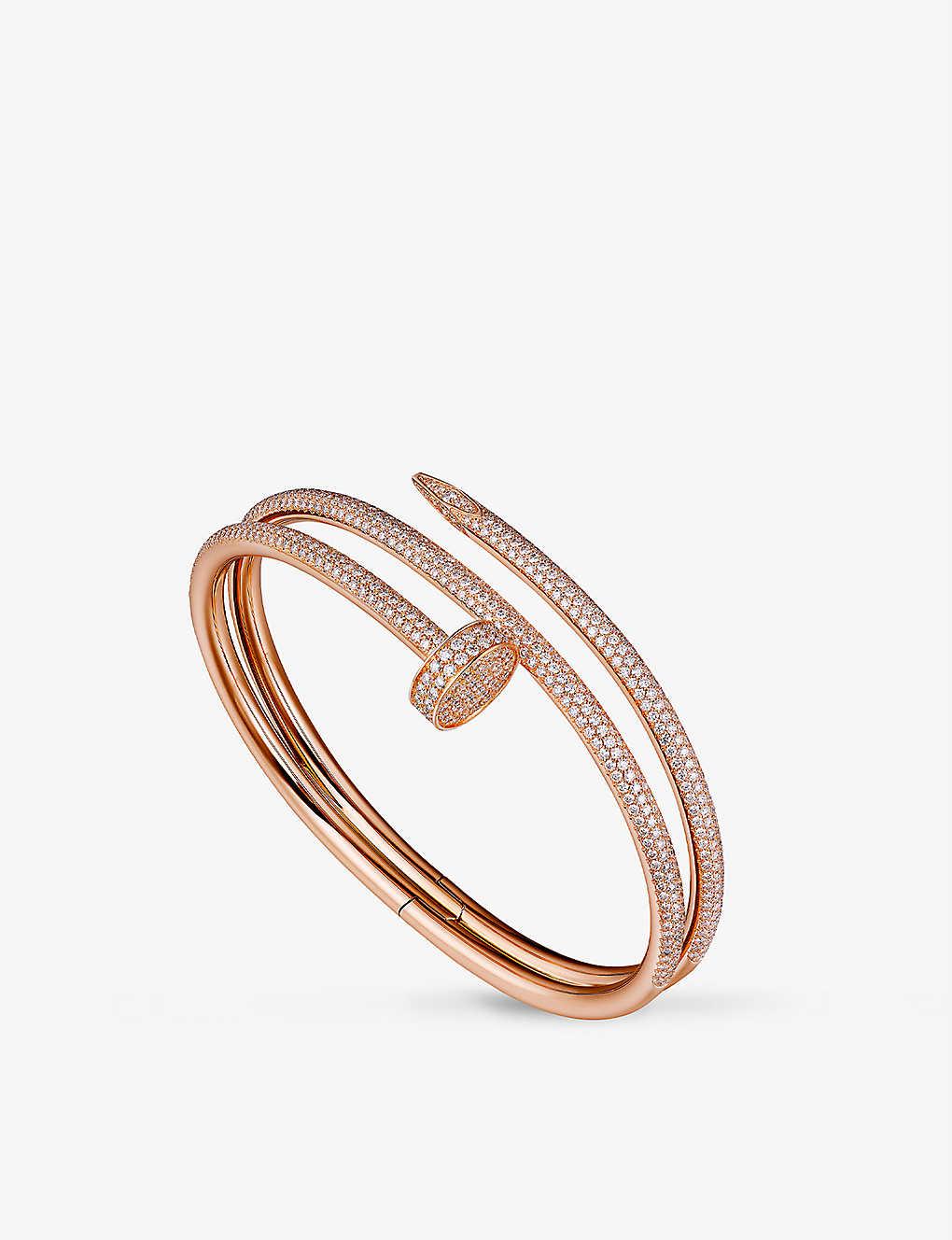 6213187c3a79b Juste un clou 18ct pink-gold and diamond double bracelet