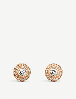 CARTIER d'Amour 18ct rose gold and diamond earrings