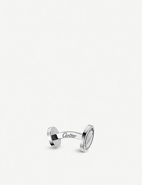 CARTIER Love palladium plated sterling silver cufflinks